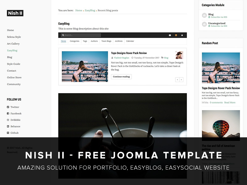 Nish II Template For EasyBlog & EasySocial