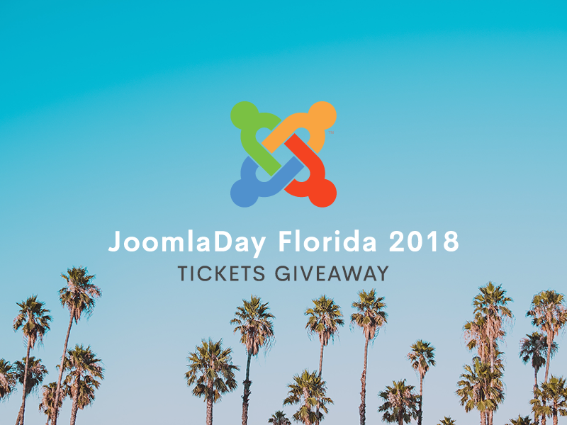 JoomlaDay Florida 2018 Tickets Giveaway