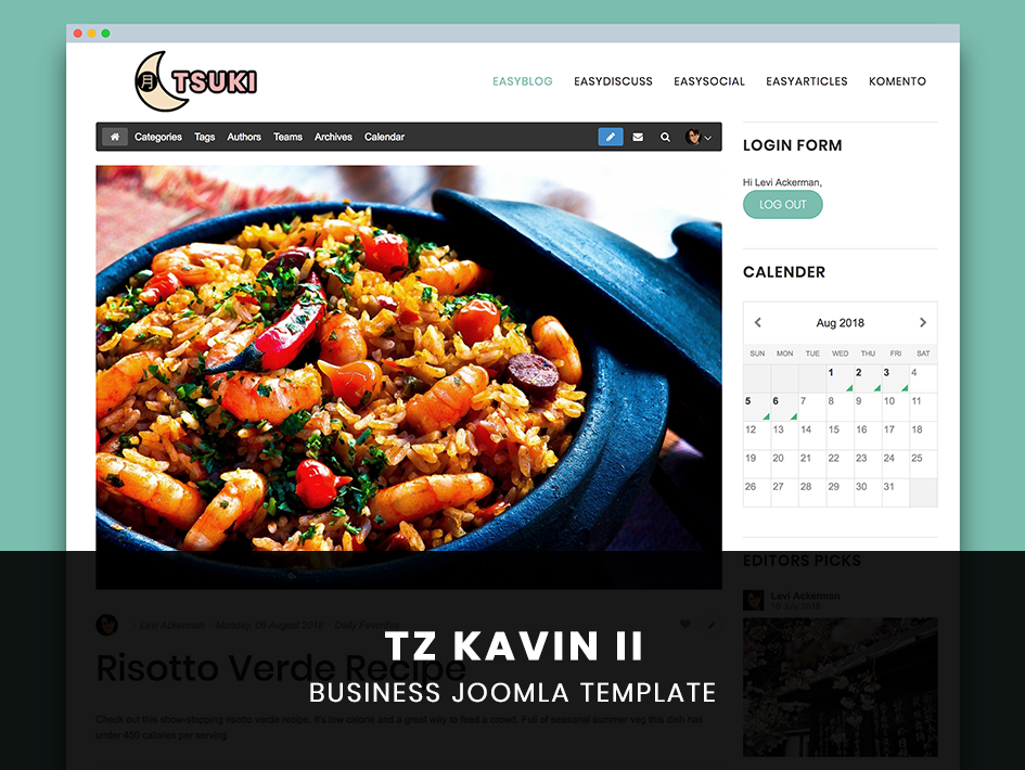 TemPlaza Kavin II Template for EasyBlog