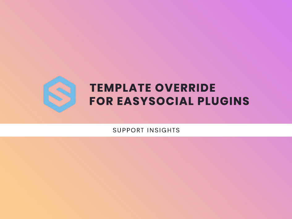 Template override for EasySocial plugins