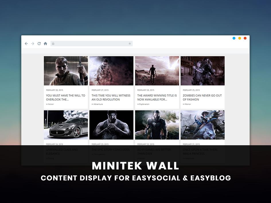 Minitek Wall for EasyBlog & EasySocial