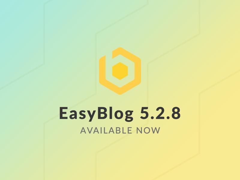EasyBlog 5.2.8 Update