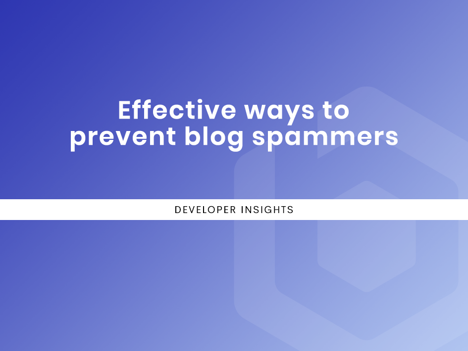 Effective ways to prevent blog spammers