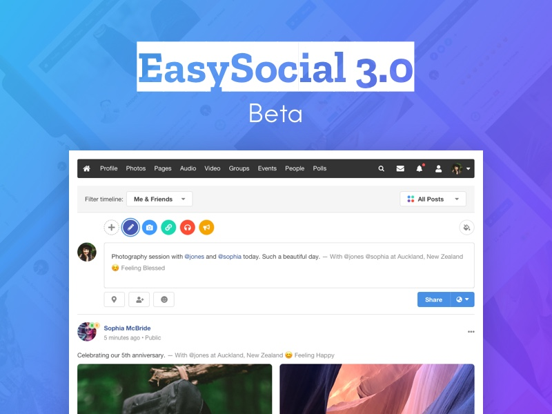 EasySocial 3.0 Beta Released