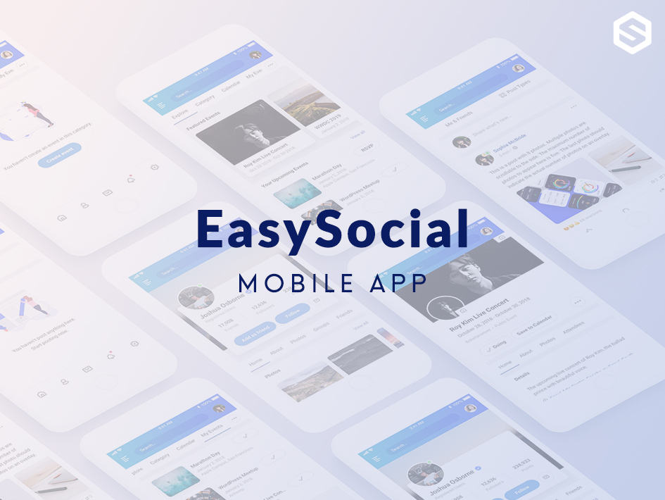 Preview of EasySocial Mobile App