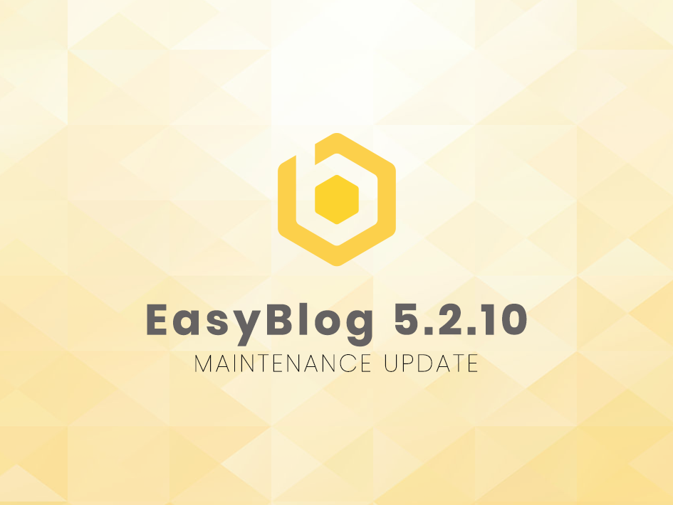 Maintenance Update for EasyBlog