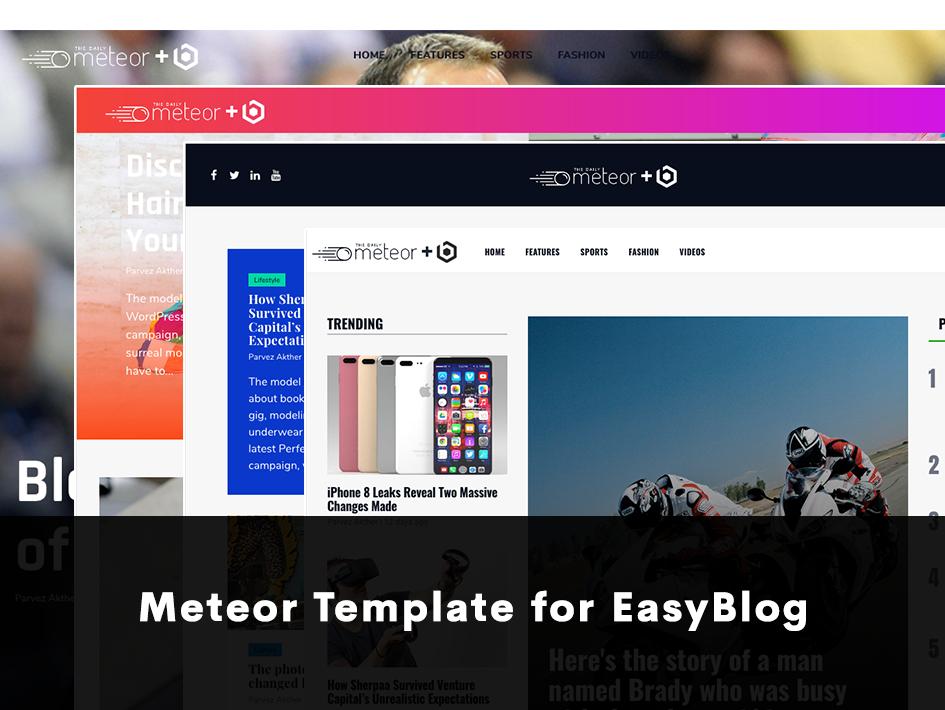 ThemeXpert's Meteor Template for EasyBlog