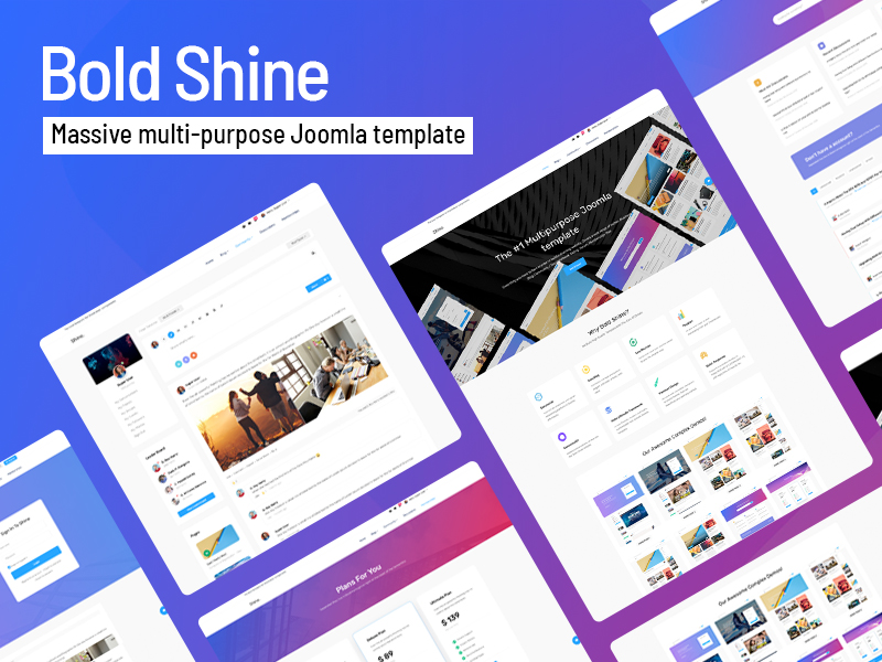 Introducing Bold Shine Template from CMSBold