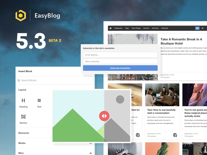 EasyBlog 5.3 Beta 2 Released