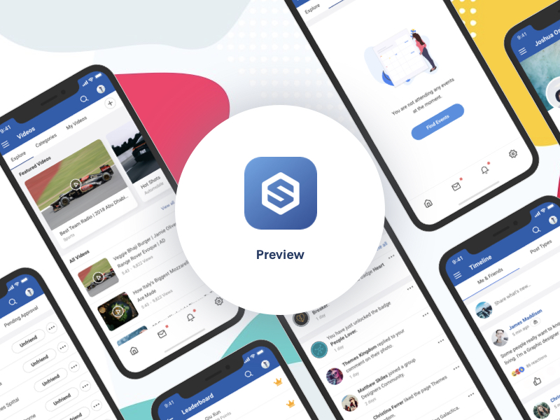 EasySocial Native Mobile App Preview