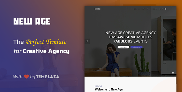 Introducing New Age Template by TemPlaza