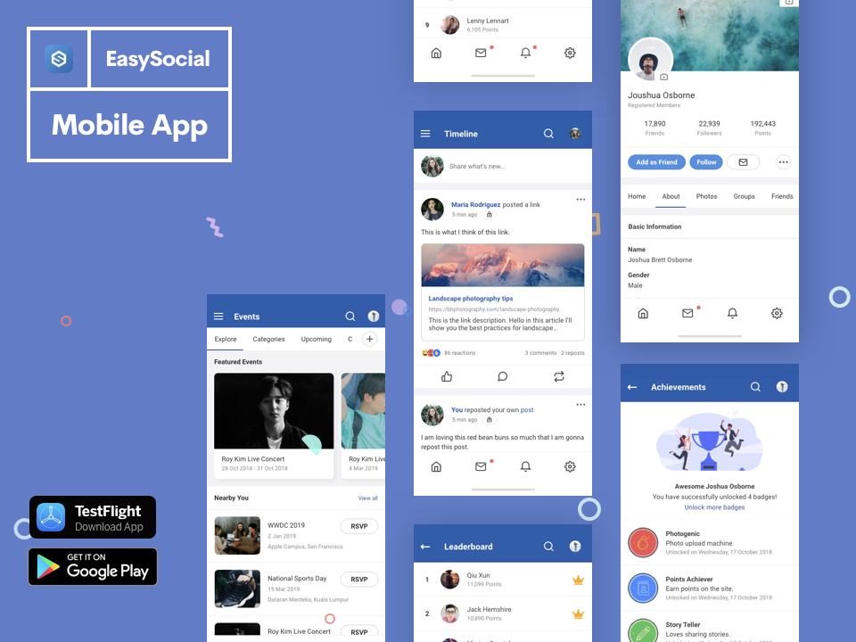 EasySocial Native App Preview