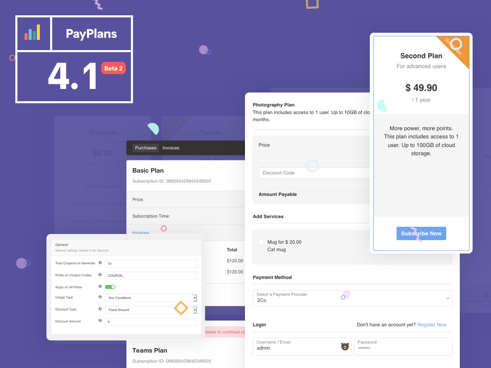 PayPlans 4.1Beta 2 Released