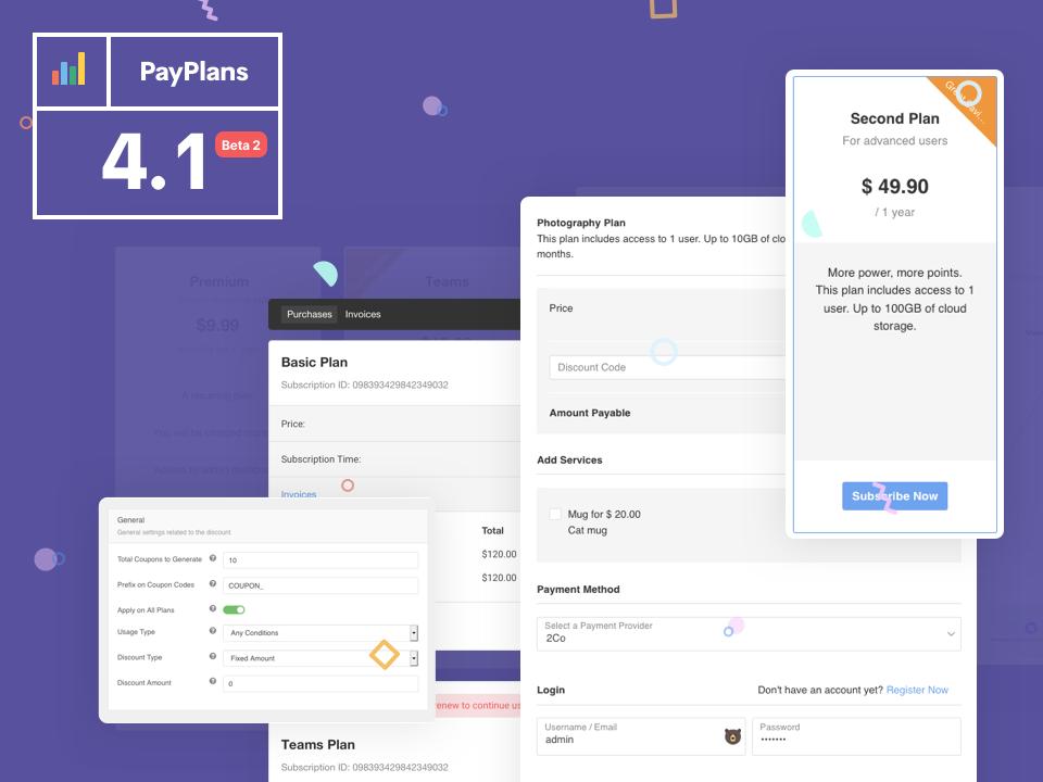 PayPlans 4.1Beta 2 Released