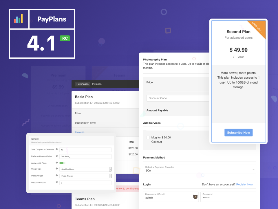 PayPlans 4.1 RC Released