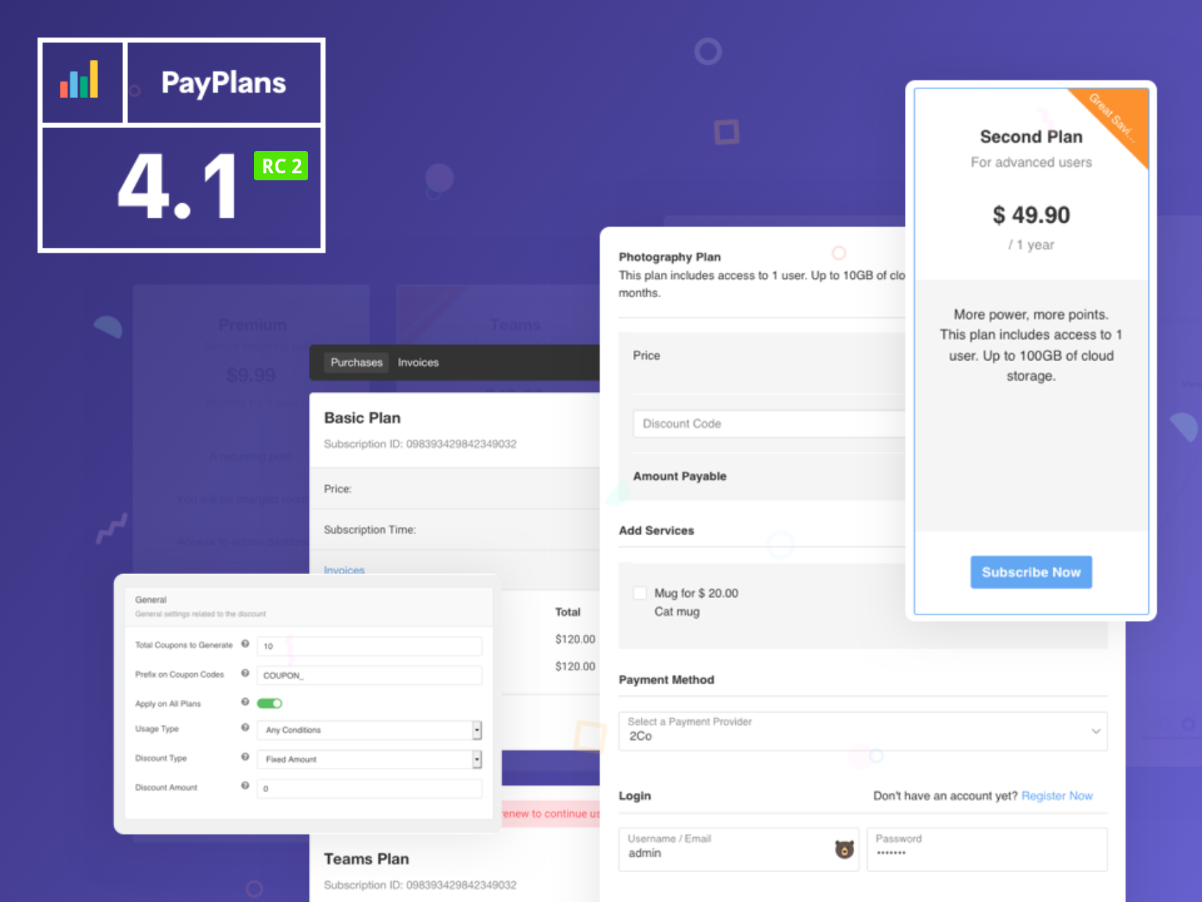 PayPlans 4.1 RC 2 Released