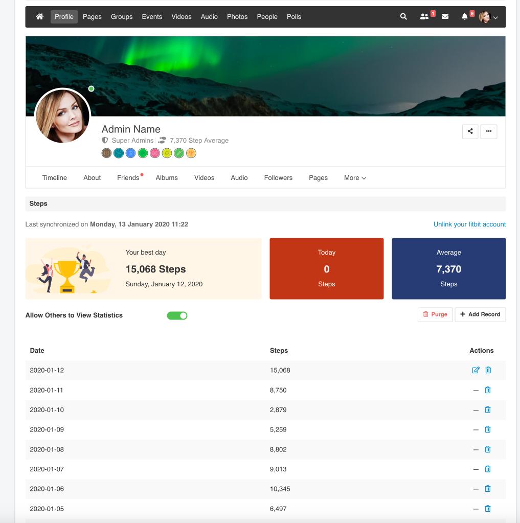 EasySocial Steps App