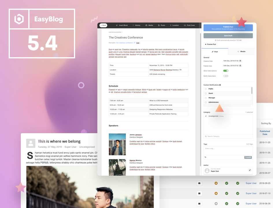 EasyBlog 5.4 is Available for Download Now!