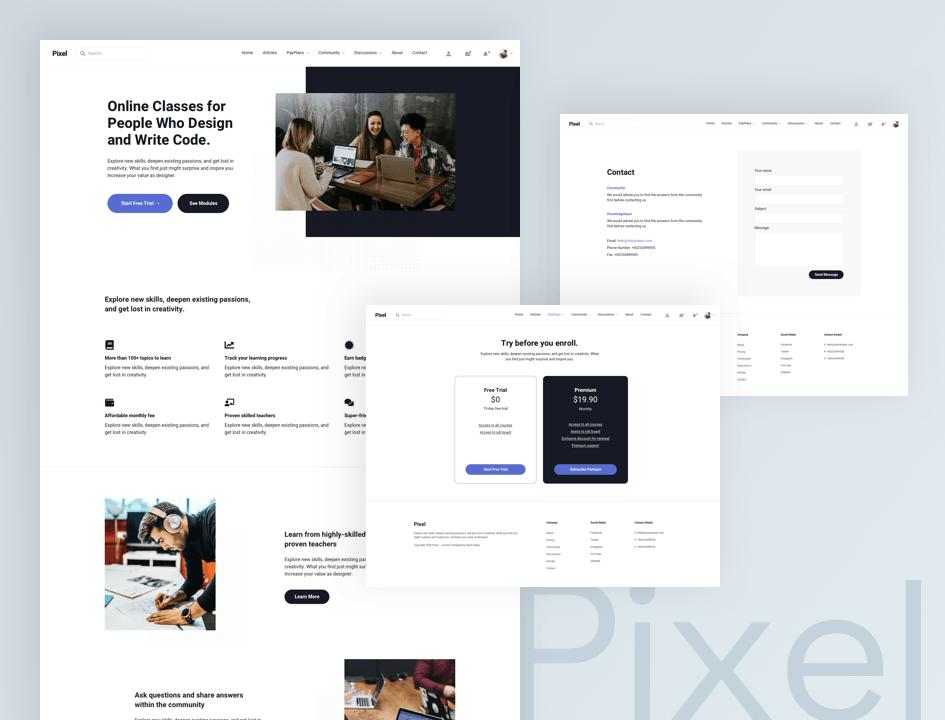 Introducing Pixel Template for Joomla