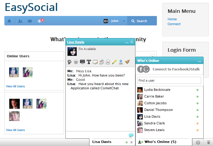 CometChat integrates with EasySocial