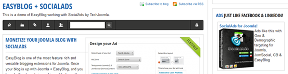 Monetize Your Joomla Blog with SocialAds
