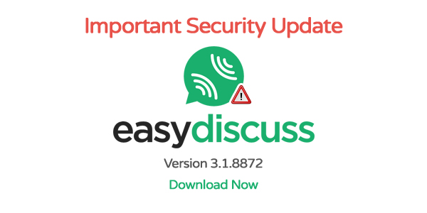 EasyDiscuss ver 3.1.8872 Critical Security Download