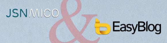 JoomlaShine has a new Joomla template for EasyBlog