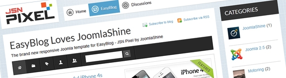 New JoomlaShine Template for EasyBlog