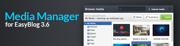 New Media Manager for EasyBlog 3.6