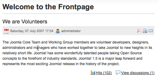 Discussion plugin for Joomla