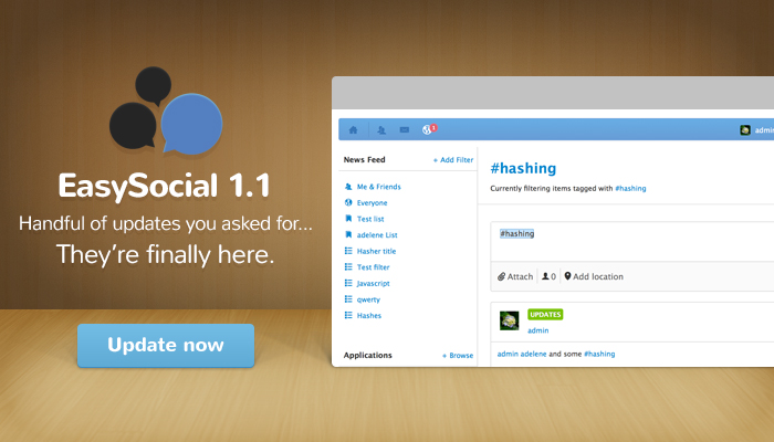EasySocial 1.1 Stable Available Now!
