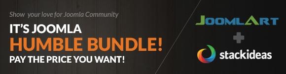 Joomla! Humble Bundle: Help Stackideas & Joomlart to raise $1Mil for Joomla