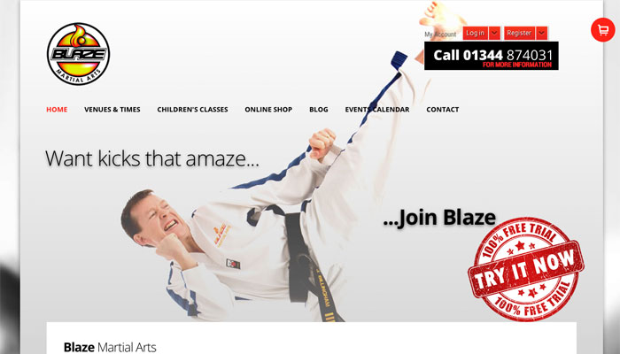 Blaze Martial Arts Trains with EasyBlog