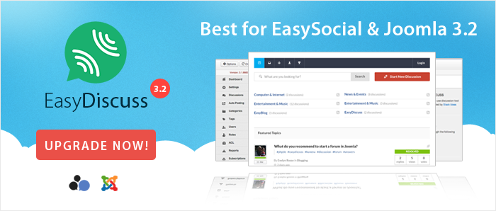EasyDiscuss 3.2 supports EasySocial and Joomla 3.2