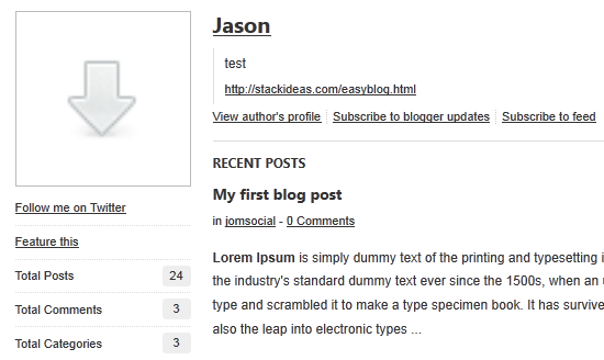 blogger interface