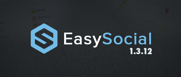 The latest EasySocial 1.3.12 is available