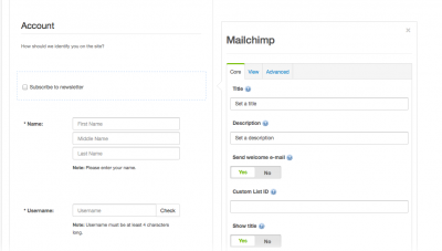 Setup Custom Field for EasySocial and MailChimp