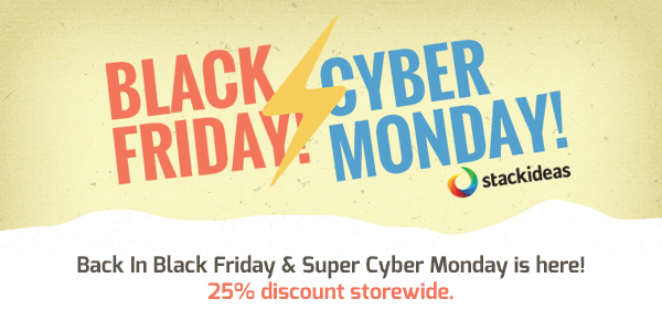 Stack Ideas Celebrates Black Friday and Cyber Monday!