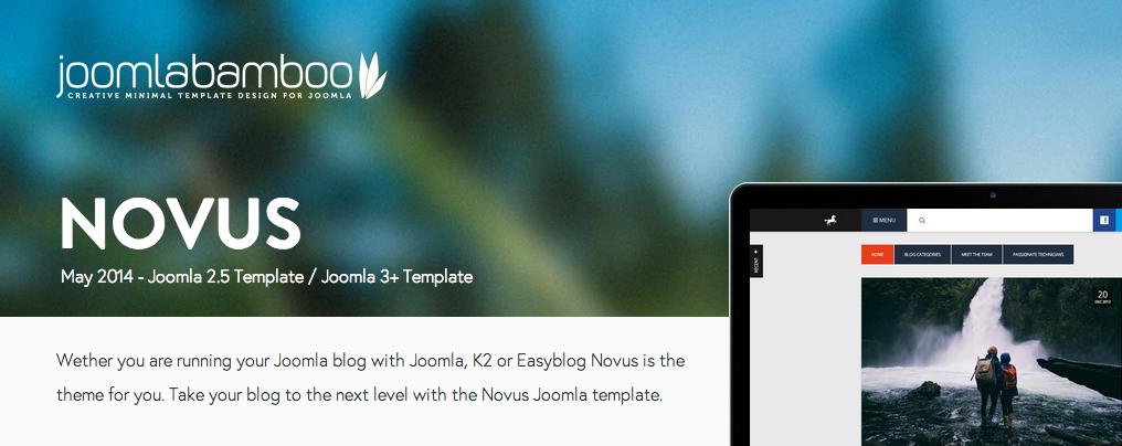 Novus : New Template from JoomlaBamboo