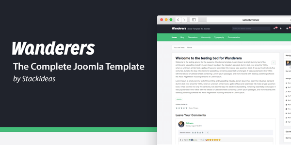Wanderers - The Complete Joomla Template