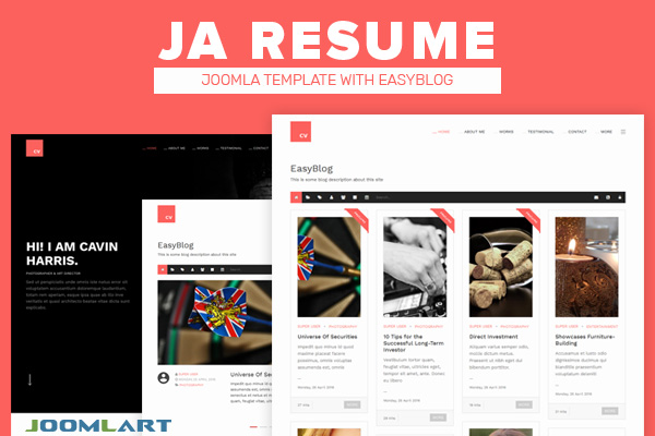JA Resume for EasyBlog