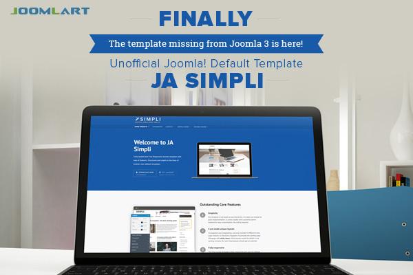 Leaked - JoomlArt's new Free Joomla template JA Simpli