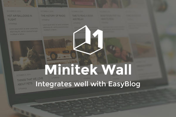 Introducing Minitek Wall For EasyBlog