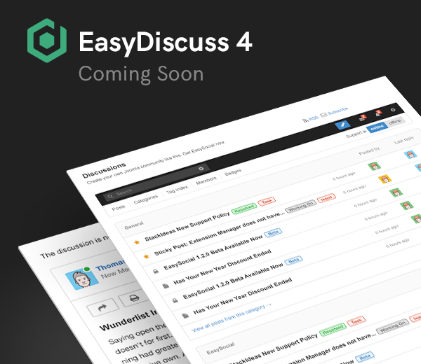 Some progress updates for EasyDiscuss 4.0 and goodies up for grabs