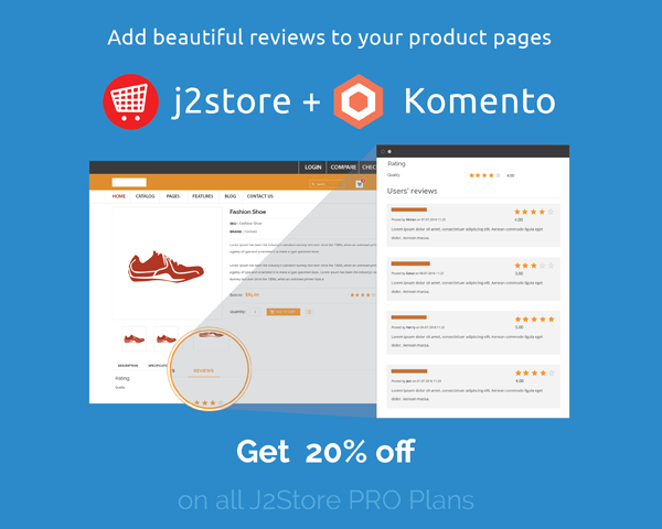 J2Store Integration with Komento and EasyBlog