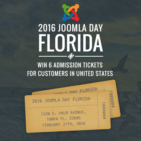 Joomla Day Florida 2016 Admission Tickets Giveaway