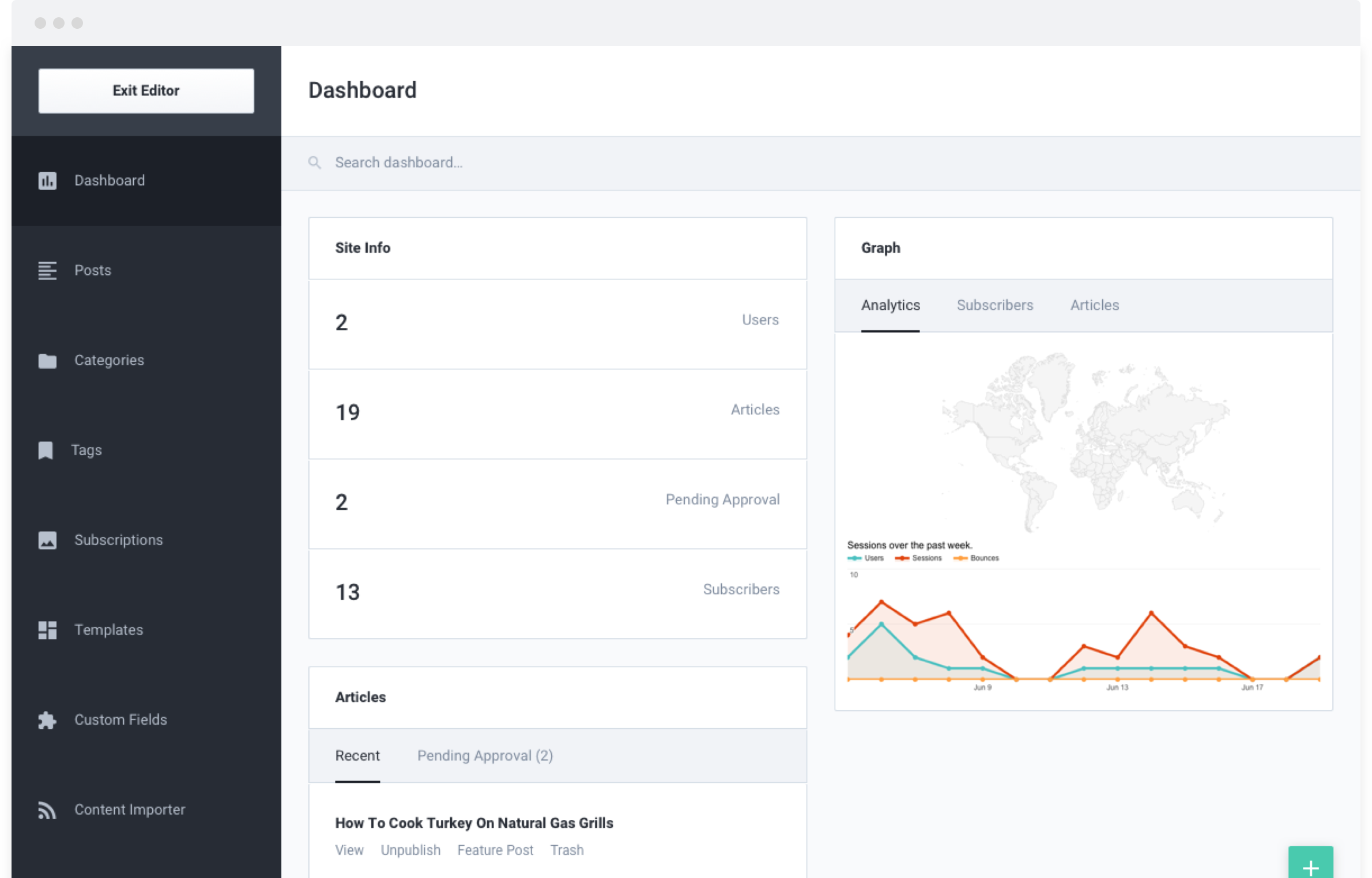 EA - Management Dashboard