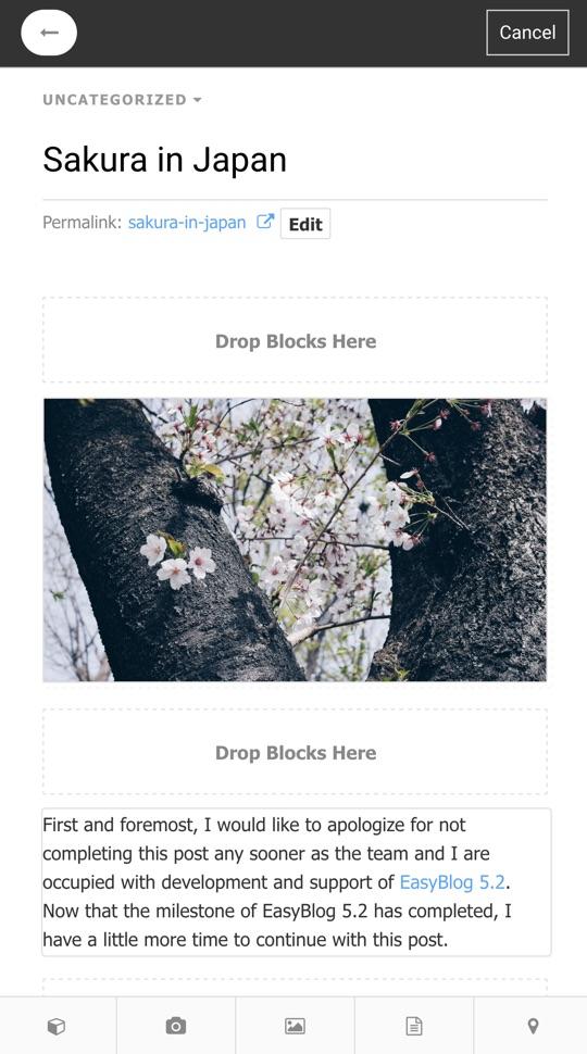 EasyBlog Mobile