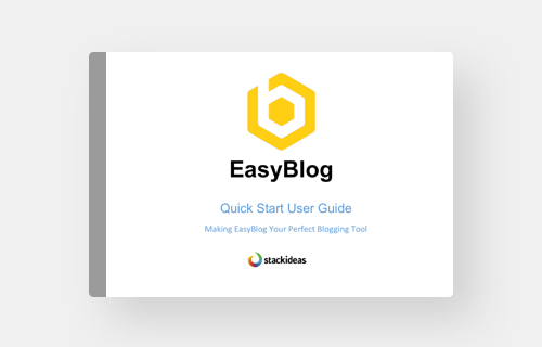 EasyBlog Quick Start Guide