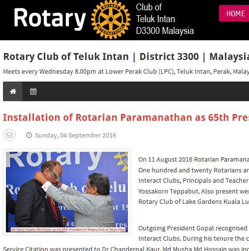 EasyBlog - Rotary Club of Teluk Intan